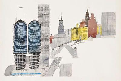 PAUL HOGARTH- CHICAGO SKYLINE
