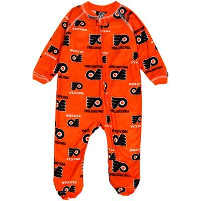 Philadelphia Flyers Infant Logo Print Blanket Sleeper - Orange...... I want an adult one as a gag gift