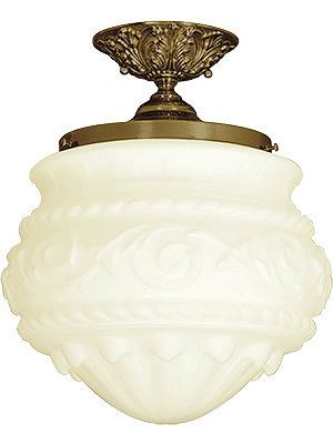 """Antique Lighting Fixtures. Charleston Flush Mount Ceiling Light With 8"""" Fitter"""