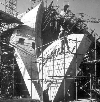 Construction of Sydney Opera House.A♥W