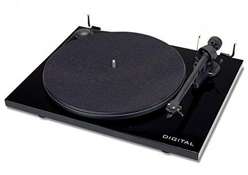 Pro-Ject ESIIDIGBLK Essential II Digital Turntable with Ortofon OM 5E Cartridge (Black)