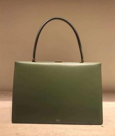 2018 Celine Medium Clasp bag in box calfskin olive e419638f01472