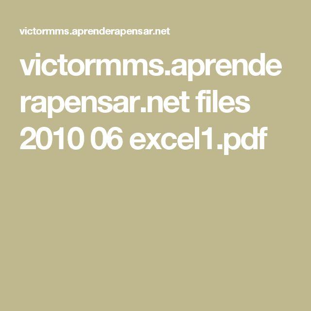 victormms.aprenderapensar.net files 2010 06 excel1.pdf