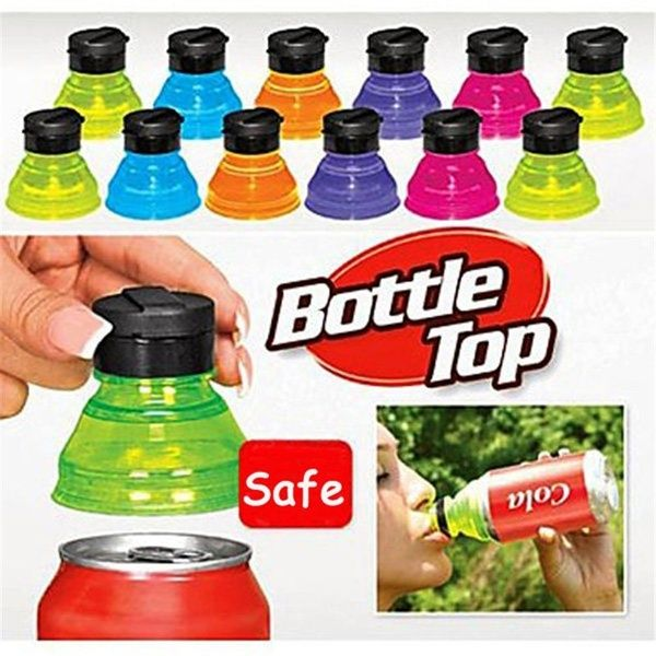 Beer Juice Soda Can Covers 6 Pieces Clear Soda Can Covers Lids Pop Can Covers Soda Can Covers Lids to Keep Carbonation Bottle Top Lid Protector for Soda Energy Drinks