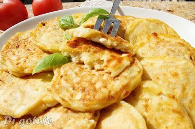 Di gotuje: Placuszki z serka wiejskiego na słono (z cebulą i szynką)