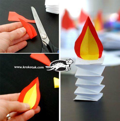 Бумажные рождественские свечи. Мастер-класс | Домохозяйка