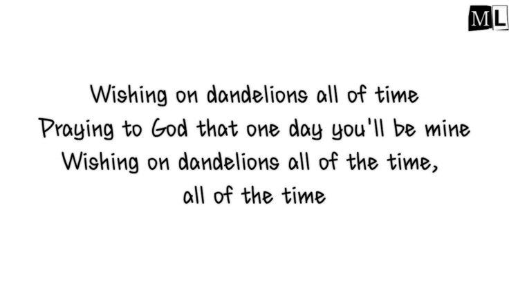 Ruth b - dandelions (lyrics)