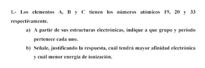 Ejercicio 1, propuesta 2, SETIEMBRE 2001-2002. Examen PAU de Química de Canarias. Temas: estructura atómica.