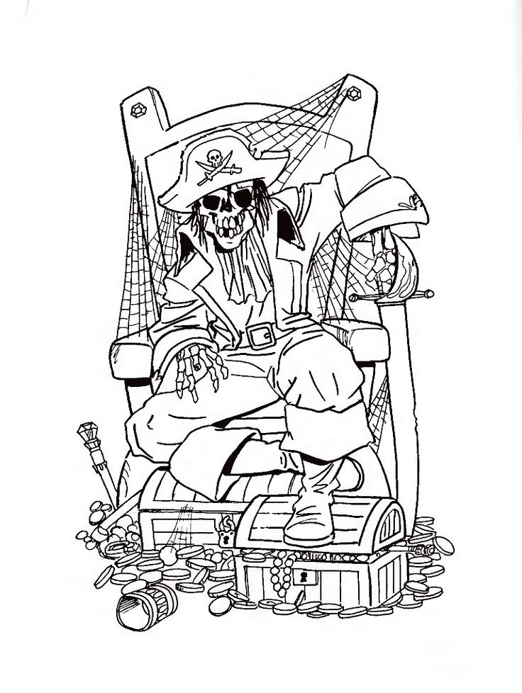 famous pirates coloring pages - photo#19