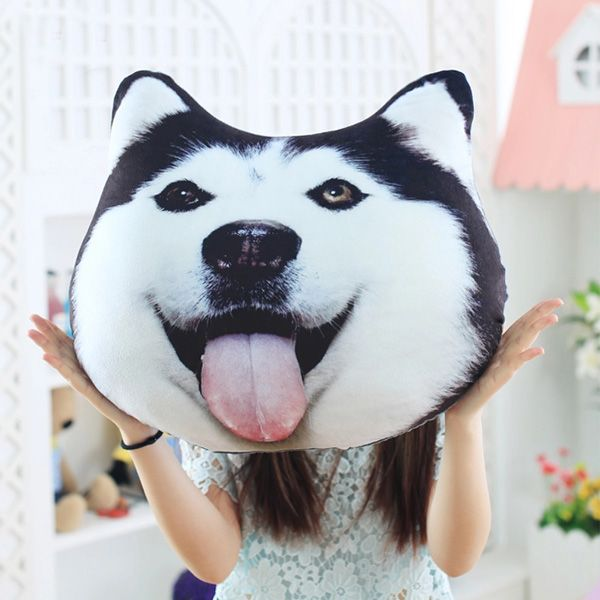 HA~~Plush 3D Printed Samoyed Husky Doge Dog Throw Pillow Alaska Dog Cushion