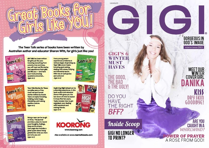 Our latest GIGI front cover for winter 2013