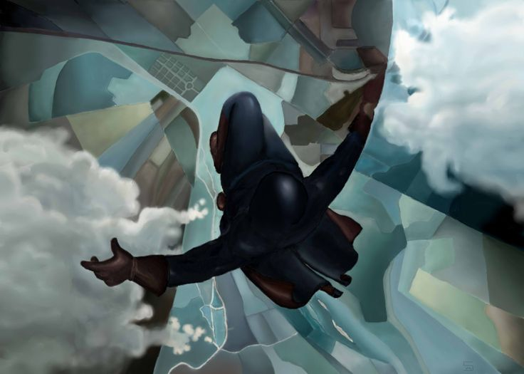 """""""In volo"""" is a mash up of italian vangard of '900 (Prima che si apra il paracadute - Tullio Crali) and Assassin's Creed Unity, made with MenteZero association for Assassin's Creed Lucca Comics&Games 2014."""