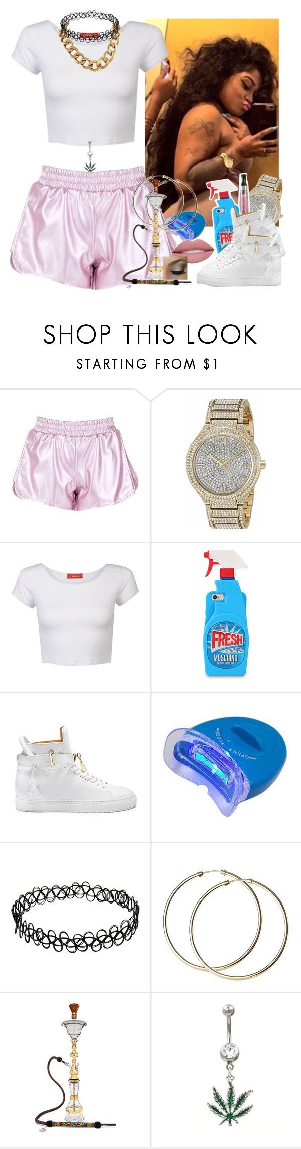 """✨"" by saucinonyou999 ❤ liked on Polyvore featuring Michael Kors, Influence, Moschino and BUSCEMI"