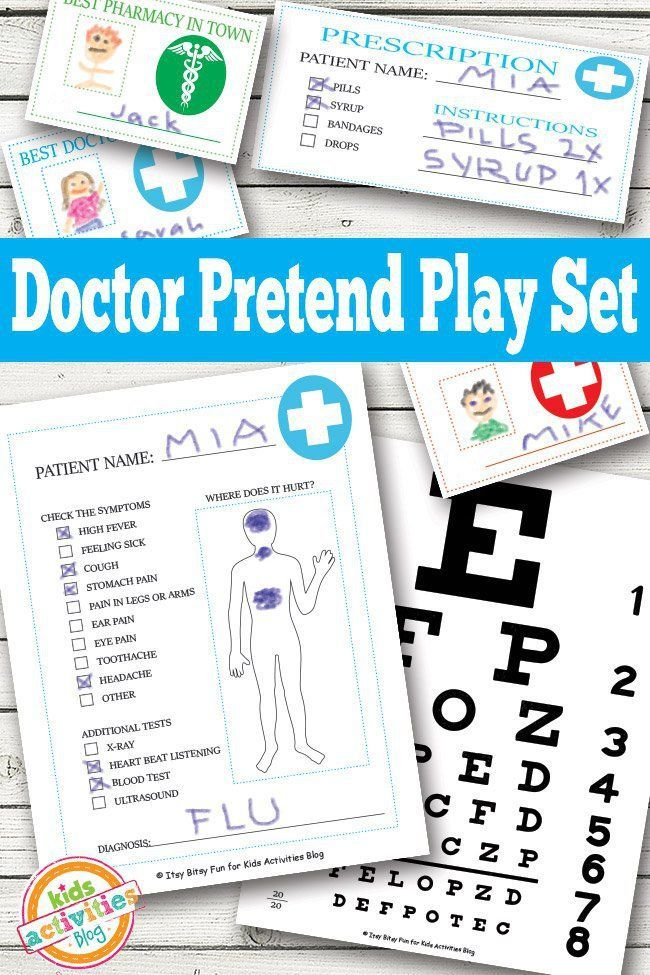 Free Kids Doctor Kit Printables are the perfect addition to kids doctors kits. They love to fill out paperwork. Give them their official doctor papers.