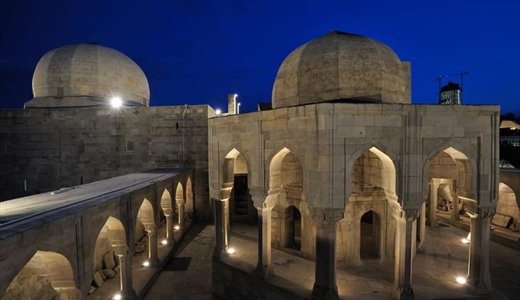 The Shirvanshahs Palace Complex is a project of archeological site lighting that deserves to be remembered