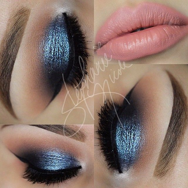 Gorgeous look by the always stunning MUAStephNicole using Makeup Geek's Peach Smoothie, Creme Brûlée, Cocoa Bear and Corrupt eyeshadows along with Houdini and Center Stage foiled eyeshadows!