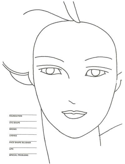 51 best blank face charts images on pinterest