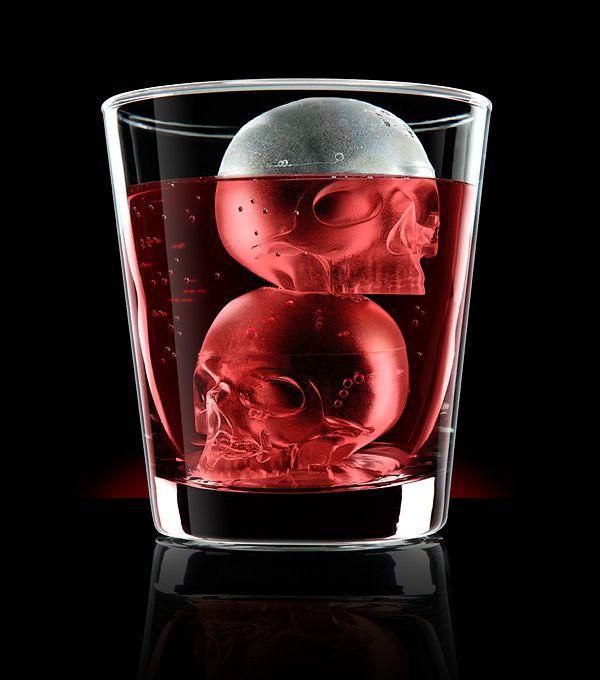 Skull Ice Mold  http://www.wicked-gadgets.com/skull-ice-mold/  #skull