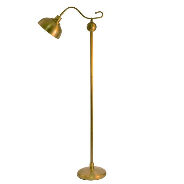 Decor Therapy Antique Brass Floor Lamp