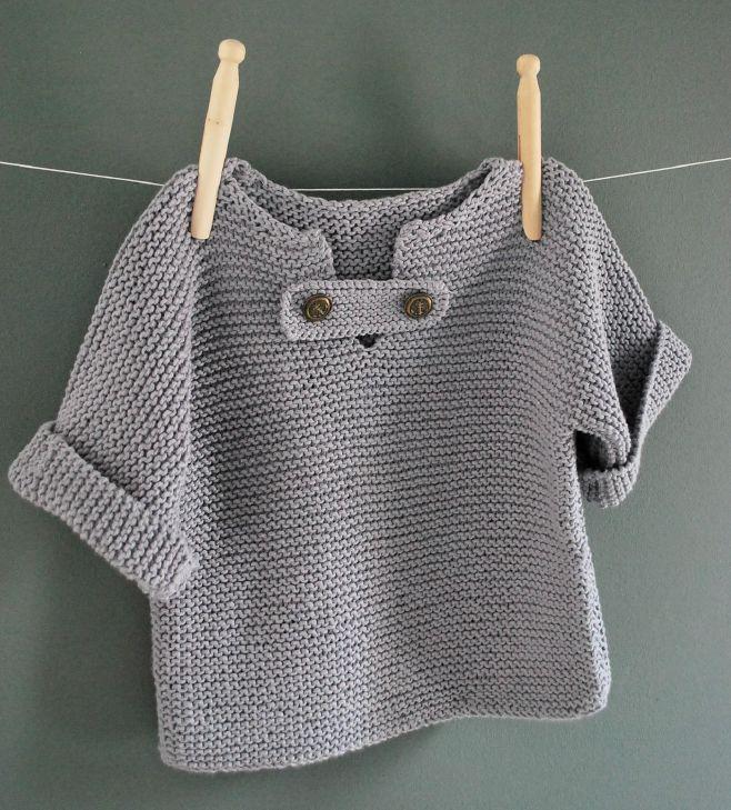 La simplicité de ce modèle de marinière pour enfant en fait un classique à tricoter d'urgence !      Taille 2 ans (un bon 2 ans)   Aiguille...
