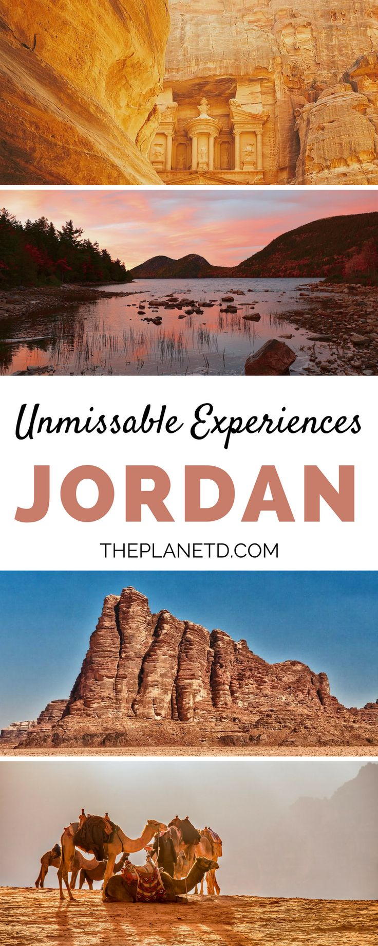 Our top 10 things to do in Jordan that will make you want to pack your travel bags right now. From the awe-inspiring Petra to the metropolis of Amman to the deserts of Wadi Rum, this guide includes experiences that you won't want to miss when visiting this tranquil gem of the Middle East + practical tips for your trip. | Blog by the Planet D #Jordan #MiddleEast