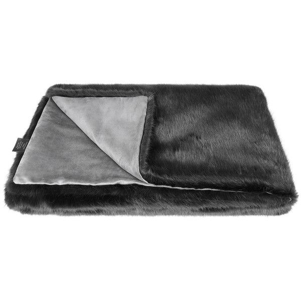 Helen Moore Faux Fur Throw - Charcoal (380 AUD) ❤ liked on Polyvore featuring home, bed & bath, bedding, blankets, grey, grey faux fur throw, gray throw, gray faux fur throw, grey faux fur blanket and faux fur blanket throw