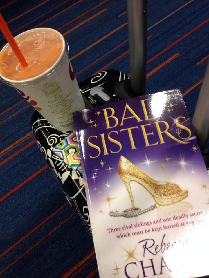 Copy of BAD SISTERS posted by a reader who was flying from JFK to Chicago... hope she enjoyed her smoothie and had a good flight!