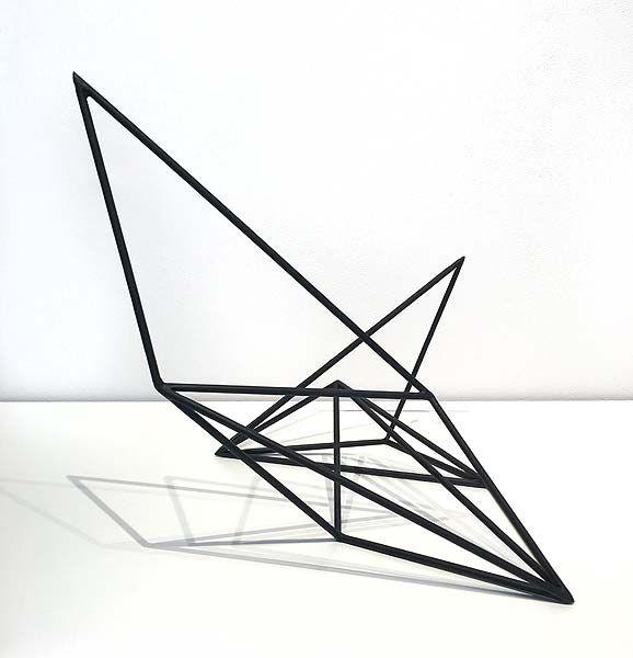 Dion Horstmans  Crystalline #25 2016  6mm solid round bar, powder coated matte black 46 x 48 x 40cm
