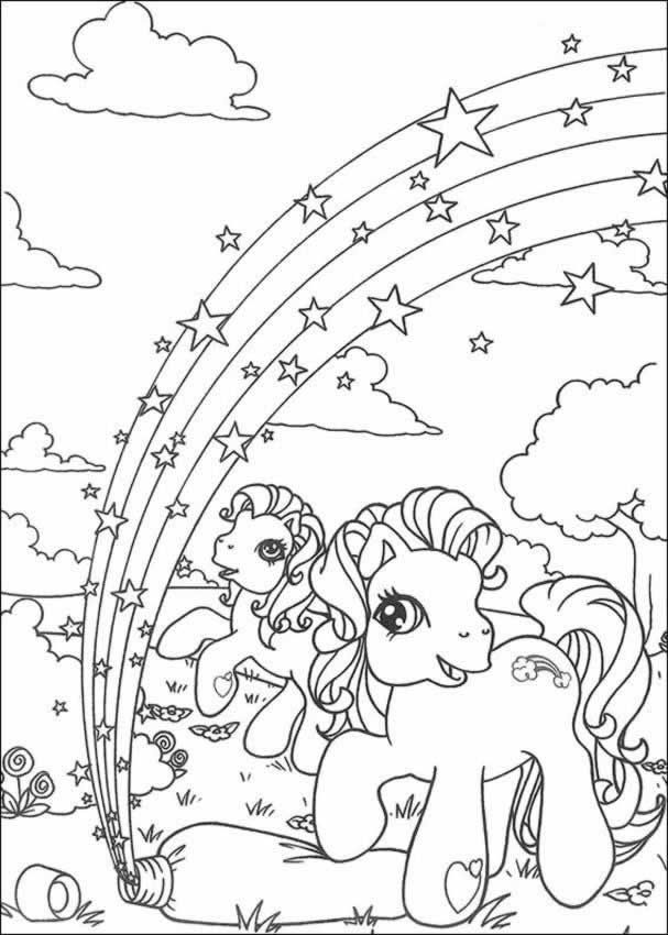 Rainbow Colouring Pictures Coloring Pages