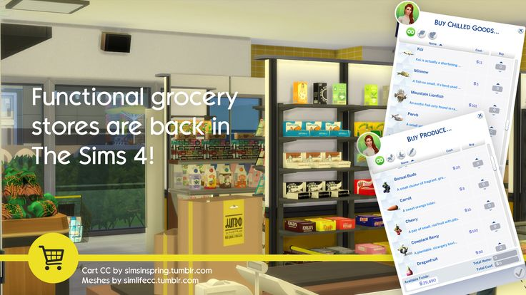 The Sims 4 Grocery Store Mod | SimsWorkshop | Sims 4 Updates -♦- Sims 4 Finds & Sims 4 Must Haves -♦- Free Sims 4 Downloads