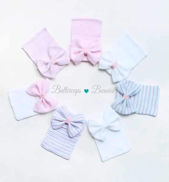You will LOVE our super cute hospital hats with bows! Hat is made from the same hospital grade material as the hat you will receive at the