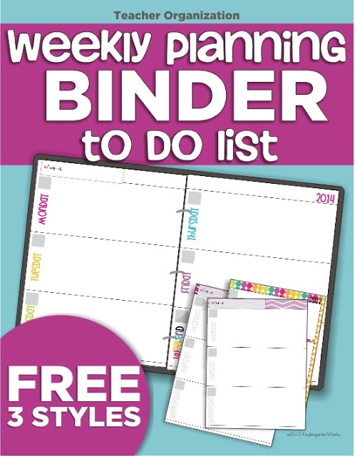 teacher planning binder weekly to do list - KindergartenWorks