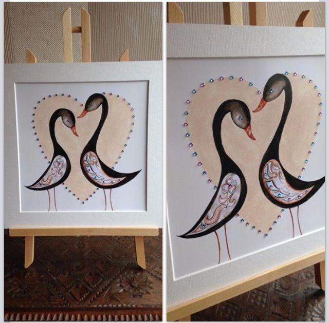 Love ducks embellished print