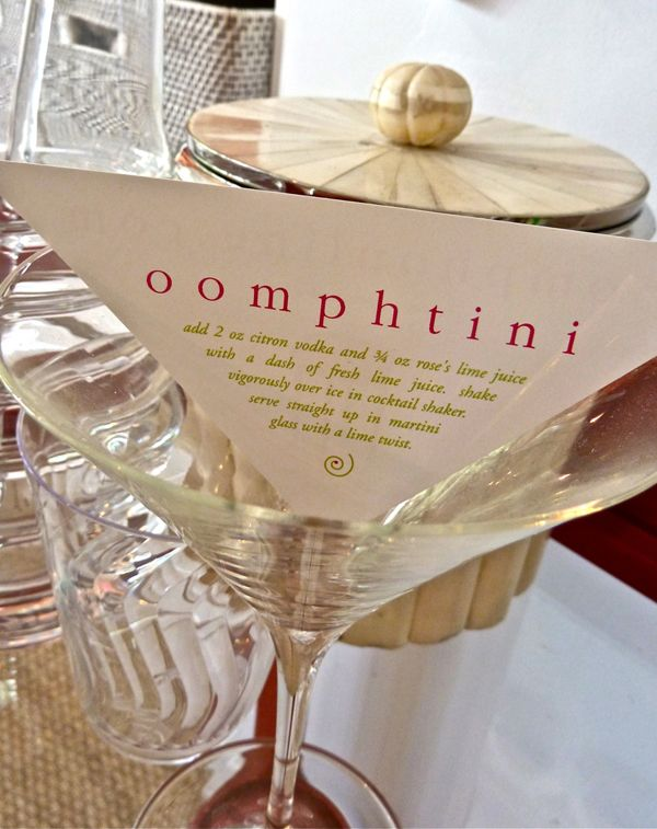 oomphtini recipe!Promo Cards, Happy Hour, Cards Design, Scarlet Duba, Martinis Lounges, Signature Cocktails, Oomphtini Recipe