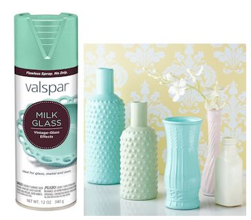 "Valspar's new ""milk glass"" spray paint"