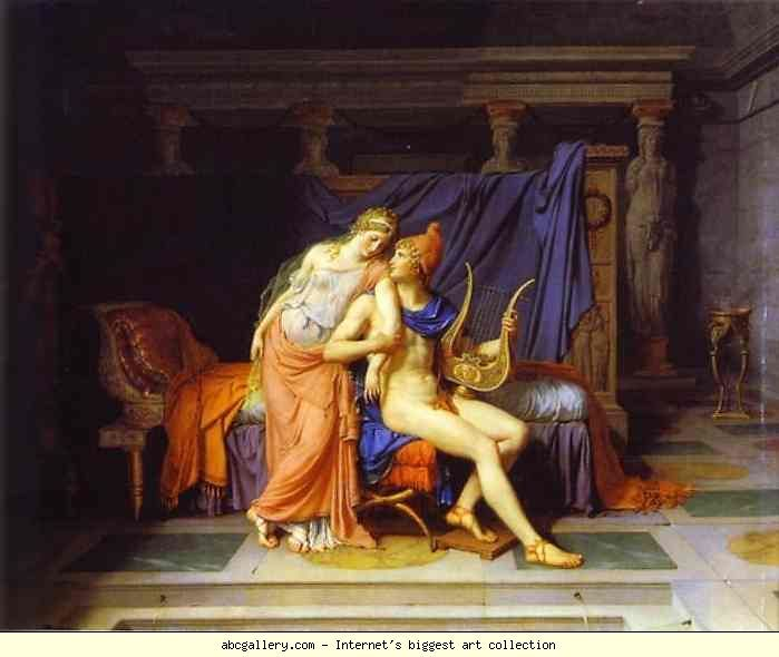Jacques-Louis David. The Love of Paris and Helen. Olgas Gallery.