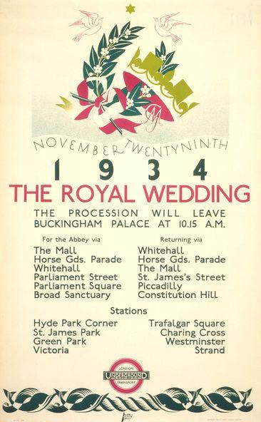 The royal wedding, by Dora M Batty, 1934