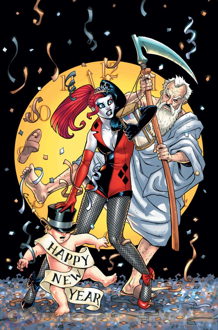 Harley Quinn Happy New Year Harley Quinn Pinterest