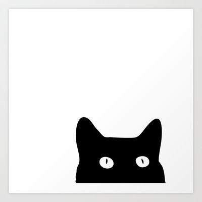 Black Cat Art Print by Good Sense - $16.64