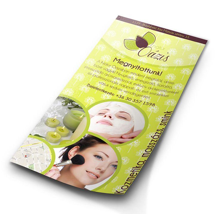 Kozmetika flyer  - Te is elkészítheted a www.designakademia.hu tanfolyamain.