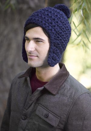 Free Crochet Pattern For Mens Earflap Hat : Image of Toboggan Hat Crocheting Pinterest Hats ...