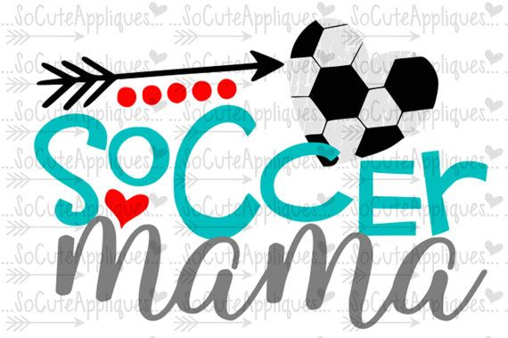 SVG DXF EPS Cut file Soccer mama Soccer mom svg by SoCuteAppliques