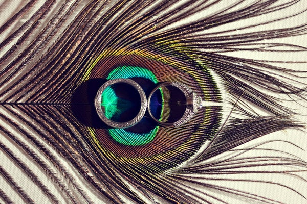 perfect: Peacock Feathers, Pictures Ideas, Photos Ideas, Rings Photos, Peacock Wedding, Peacock Inspiration, Wedding Rings, Rings Pictures, Peacock Colors