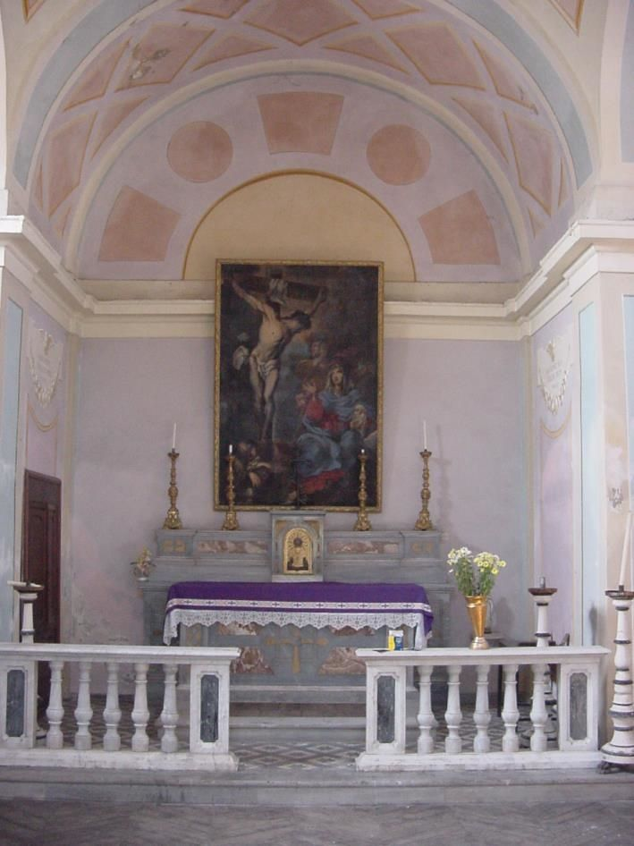 l'abside con il dipinto ad olio prima del restauro