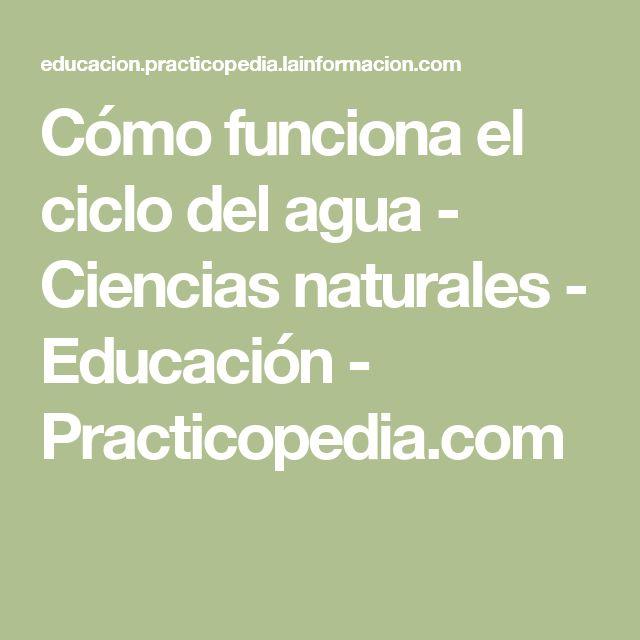 Cómo funciona el ciclo del agua - Ciencias naturales - Educación - Practicopedia.com