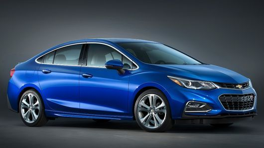 The new 2016  Chevy Cruze is lighter than the car it replaces, despite being longer and more spacious