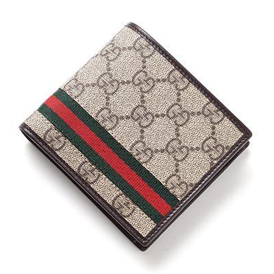 コピーブランドグッチ 2つ折り財布[小銭入れ付き] GG SUPREME ベージュ ベージュ系 365493 kgd8r 9791 メンズ