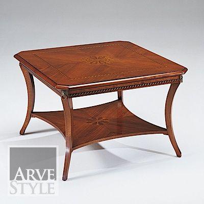 tavolino quadrato intarsiato