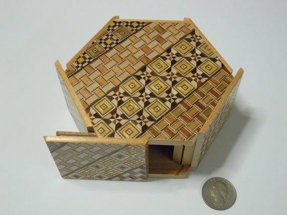 Japanese Puzzle box Himitsu bako HEXAGON Open by by tomomaru …