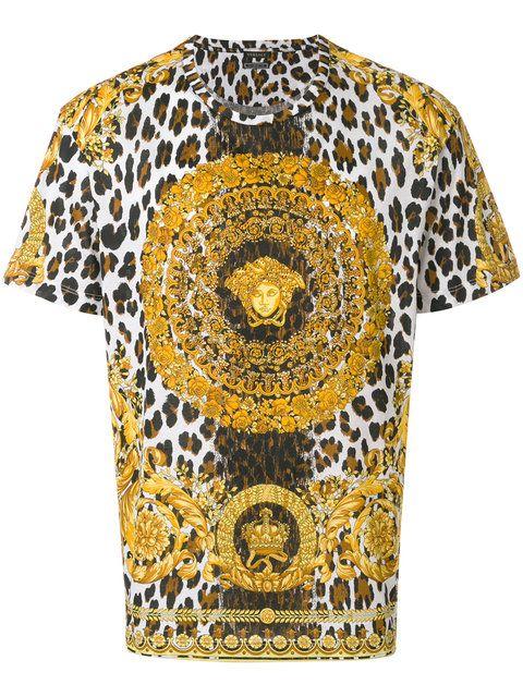 60c8e030f Versace Wild Baroque Tribute T-shirt | Men fashion | Versace shirts ...